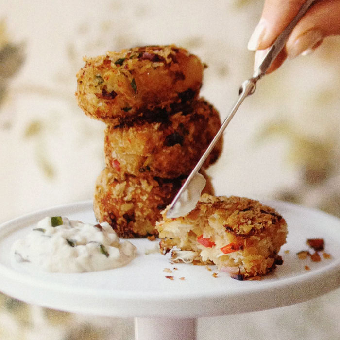 Cranberry and Sage Crab Cakes