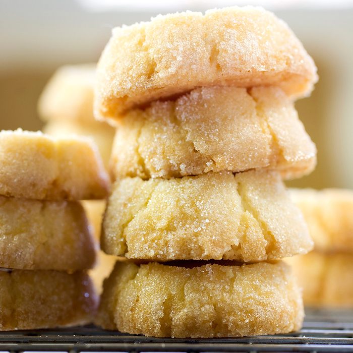 Low-Calorie Lime-Glazed Shortbread Cookies