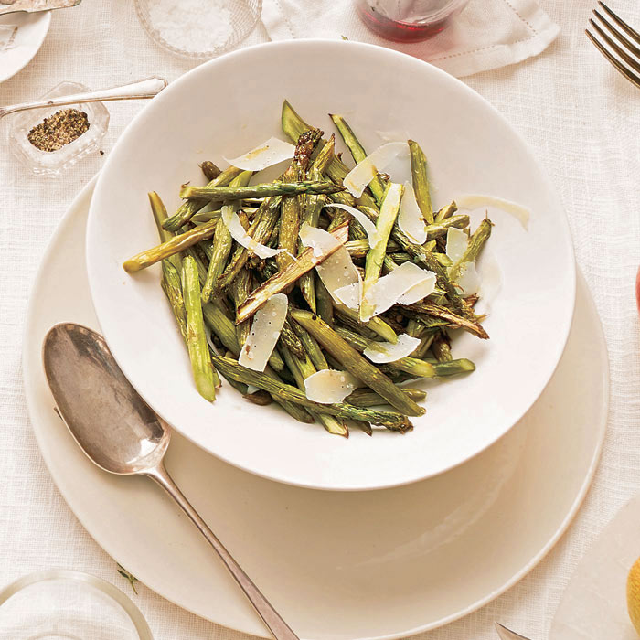 Charred Asparagus with Shaved Parmesan