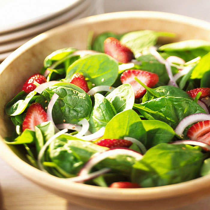 Cupids Spinach Strawberry Balsamic Salad