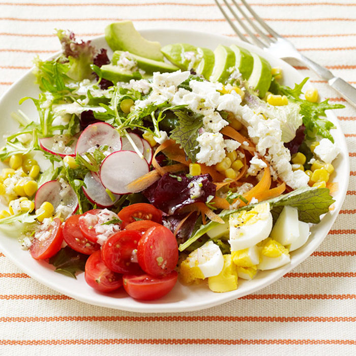 Egg, Veggie, and Avocado Salad with Tarragon Vinaigrette