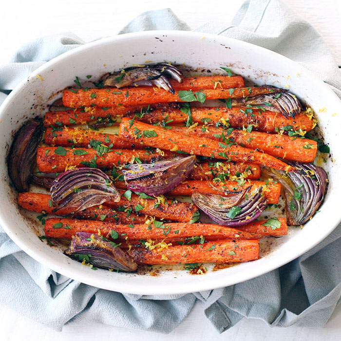 Whole Roasted Carrots with Cumin