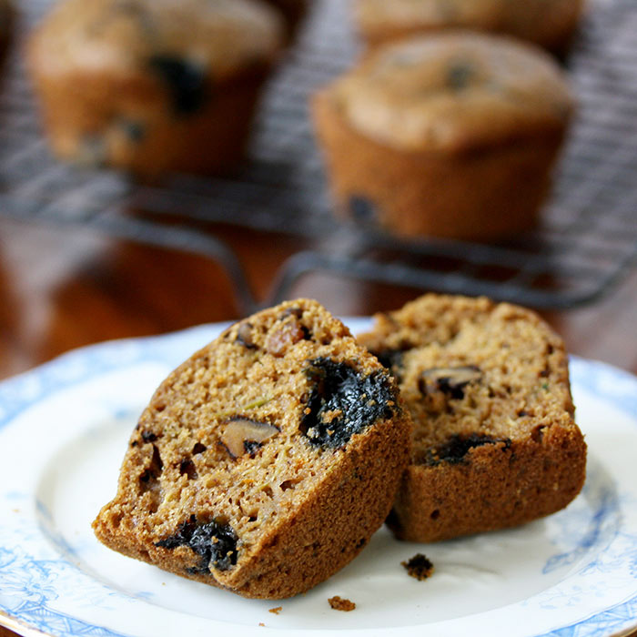 Whole Wheat Blueberry Zucchini Muffins