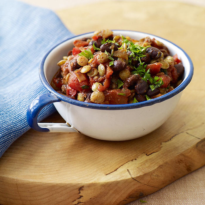 Spicy Lentil and Black Bean Chili