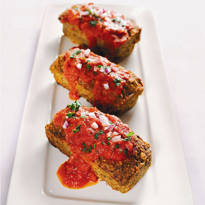 Turkey, Vegetable, and Oat Mini-Meatloaves with Marinara Sauce