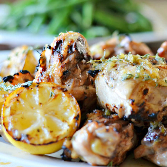 Californian-Style, Beer-Marinated Lemon-Grilled Chicken