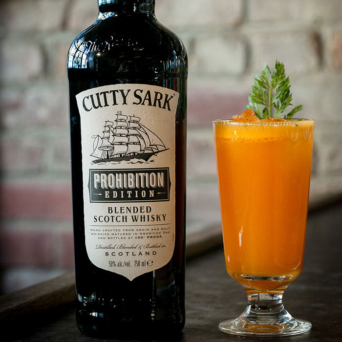 Carrots and Cutty Whiskey Cocktail