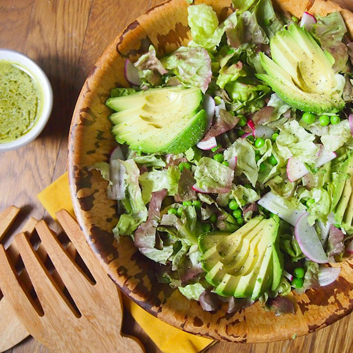 Avocado Spring Salad with Mint-Lemon Dressing