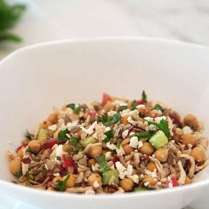 Mediterranean Chicken and Barley Salad