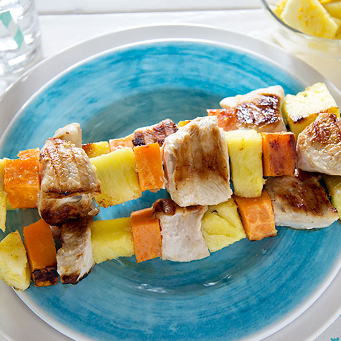 Pineapple Turkey Kebabs