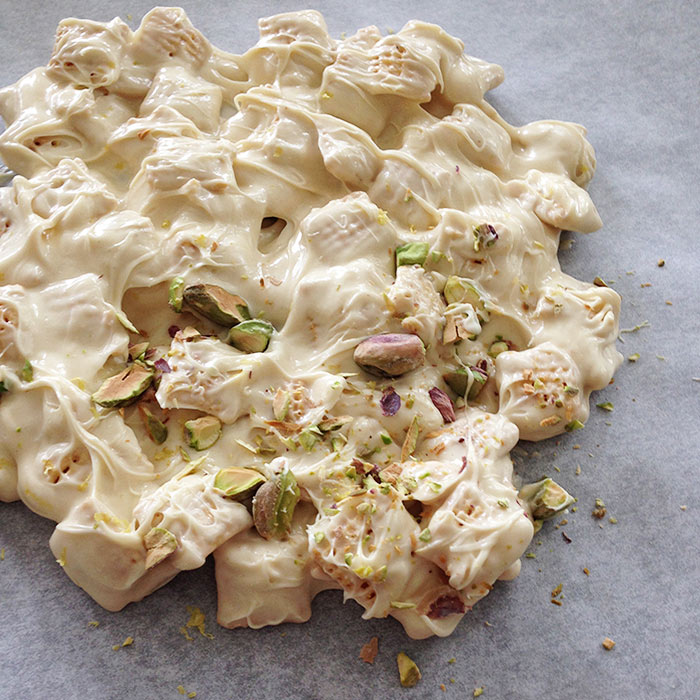 White Chocolate Pistachio Crunch