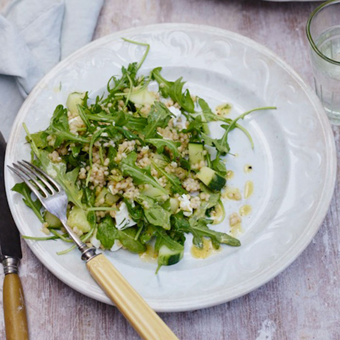 Lemon-Cucumber Salad with Feta and Couscous