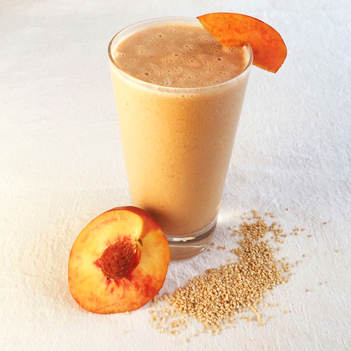 Peach-Halva Smoothie