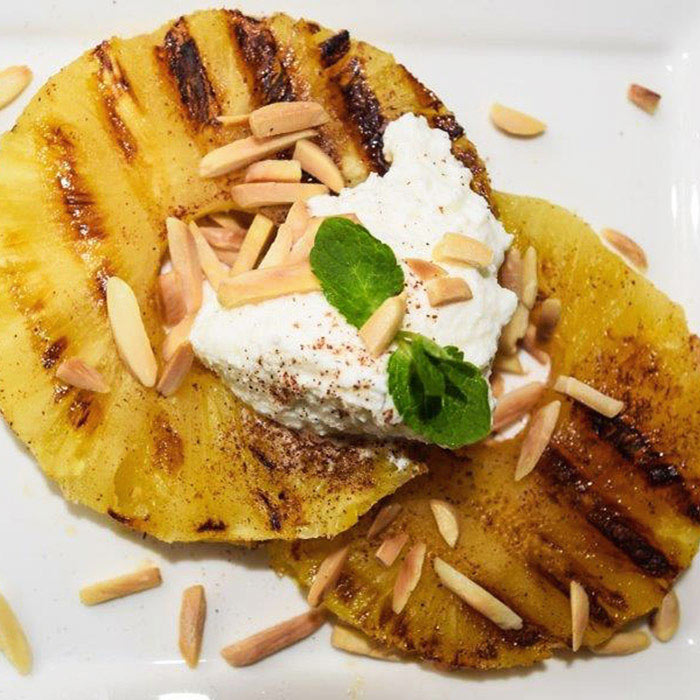 Grilled Pineapple with Ricotta