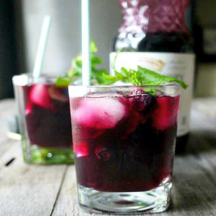 Blueberry Maple Mojito Mocktail