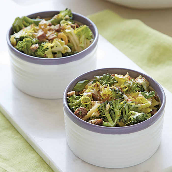 Broccoli Slaw with Candied Pecans