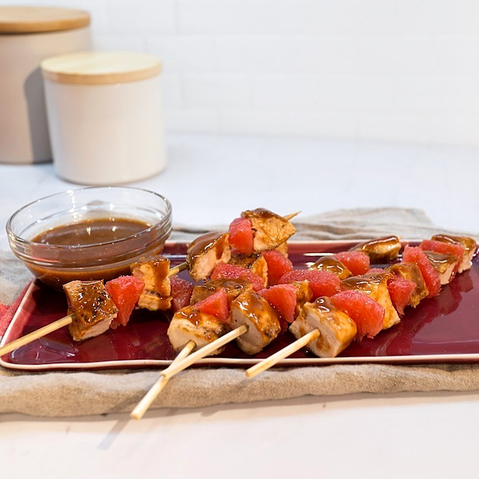 Haylie Duff's Sweet Scarlett Grapefruit BBQ Chicken Skewers