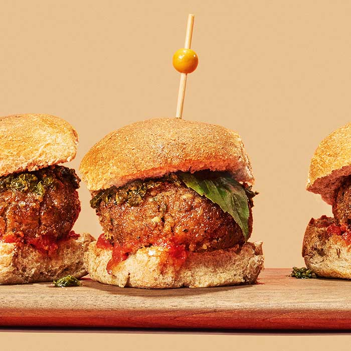 Pesto Meatball Sliders