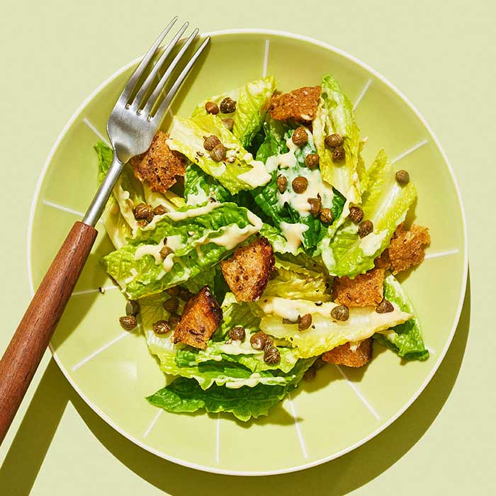 Caesar Salad with Maple-Wheat Croutons