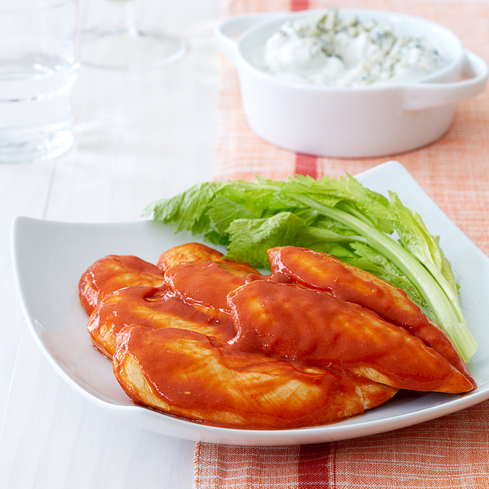 "Buffalo ""Wings"" with Blue Cheese Dip"