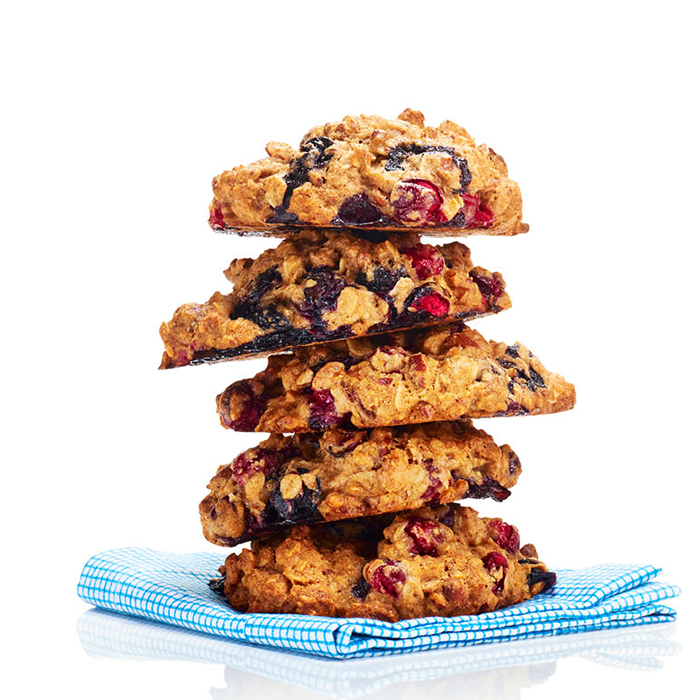Double-Berry Almond Breakfast Cookies