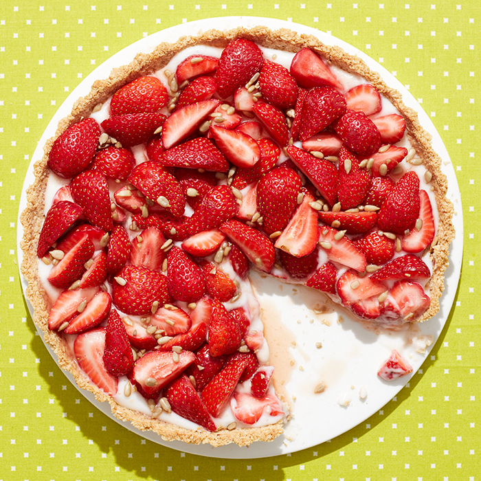 Strawberry-Sunflower Tart With Coconut-Oat Crust