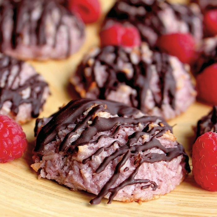 Raspberry Chocolate Macaroons