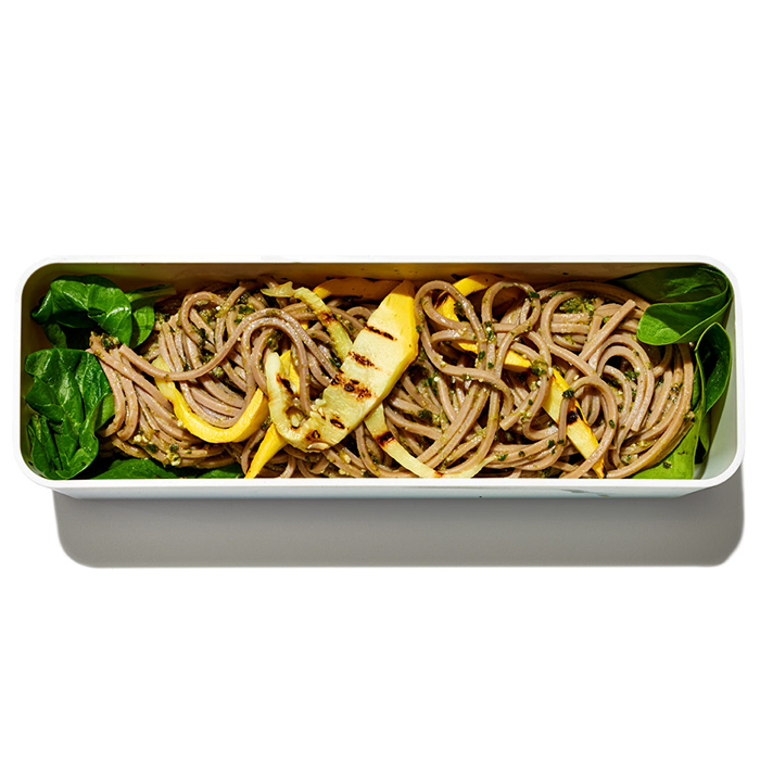 Soba Noodles with Pesto