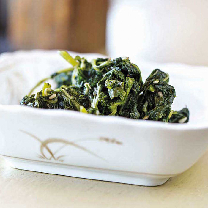 Soy and Sesame Spinach
