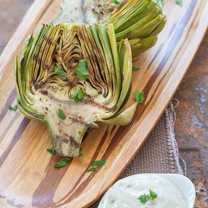 Grilled Artichokes with Remoulade