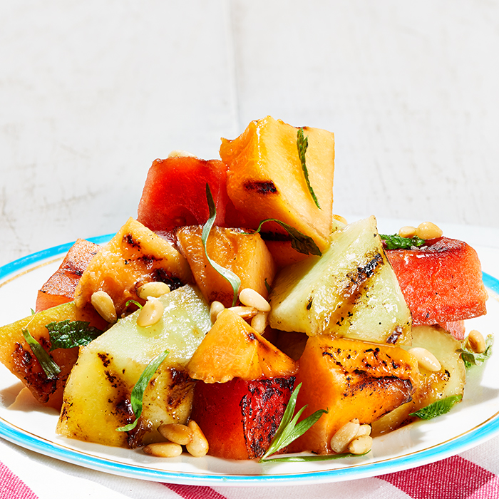 Grilled Melon Salad With Mint