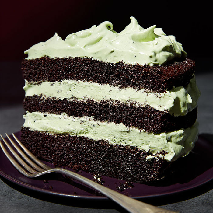 Green Tea Chocolate Cake With Matcha Marshmallow Frosting