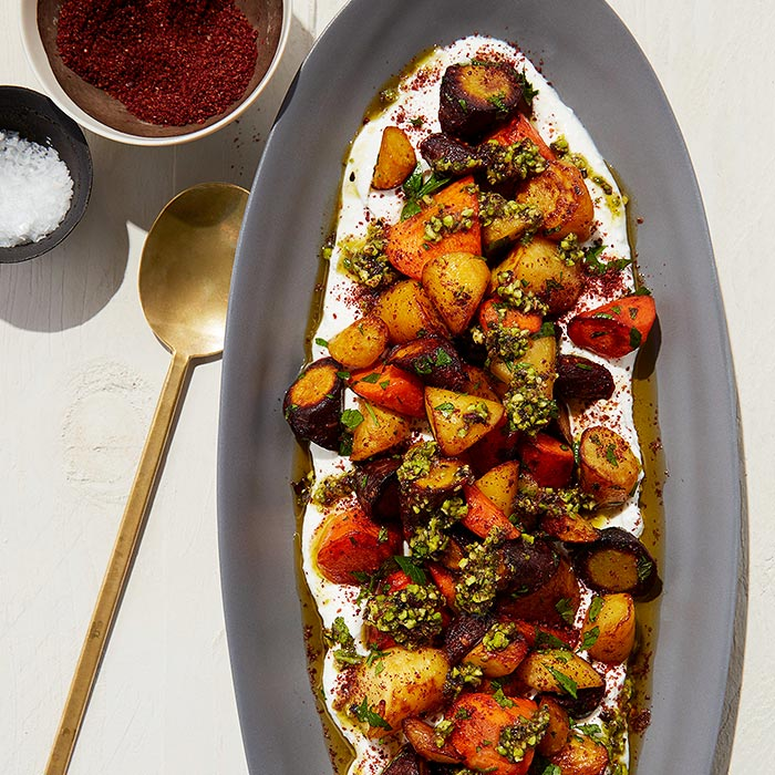 Carrots with Pistachios and Sumac