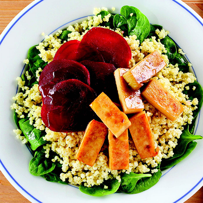 Beet Salad with Honey-Ginger Tofu