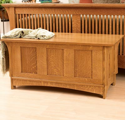 Woodwork blanket chest plans mission pdf plans for Arts and crafts bed plans