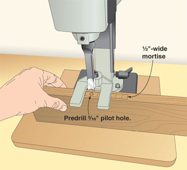 Spare wear and tear on your mortiser