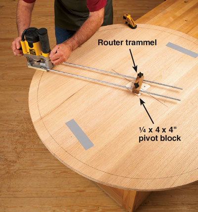 steps to routing large circles