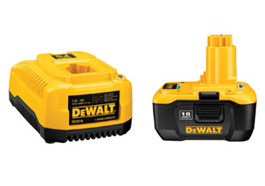DeWalt's Li-Ion batteries and charger