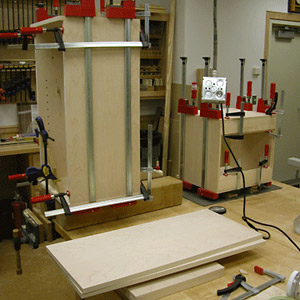 Assemble the vertical cabinet