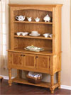classic country oak hutch