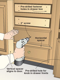 Drawer alignment made easy