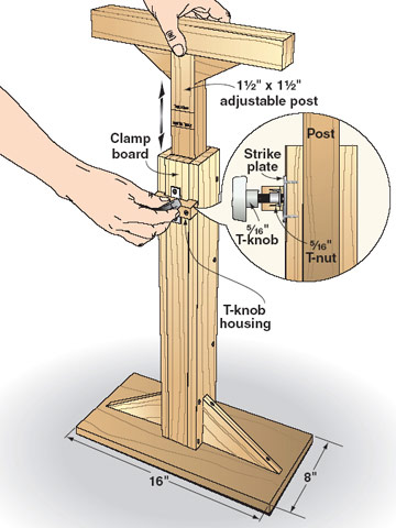 homemade drill press stand plans