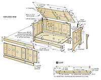 Blanket chest exploded view