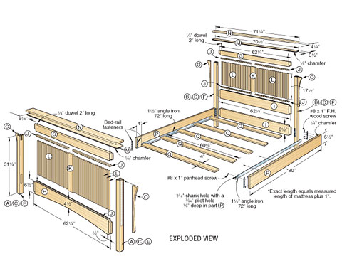 King Size Wood Bed Frame Plans