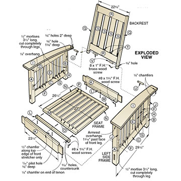 morris chair plans outdoor