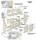 Punched-Tin Wall Cabinet Woodworking Plan
