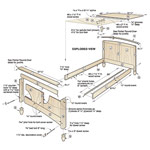 Country-Fresh Bed Woodworking Plan