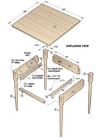 Shaker Nightstand Woodworking Plan