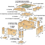 Tile-Topped Keepsake Box Woodworking Plan