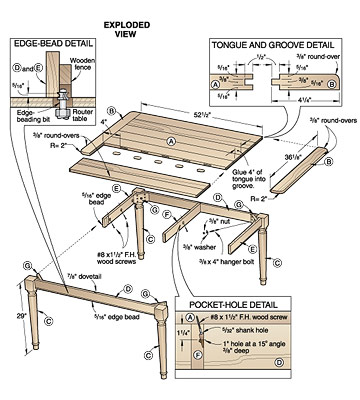 country style dining table plans